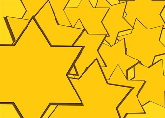 Yellow david star texture with place for your design or text