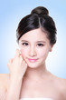 attractive Skin care woman face