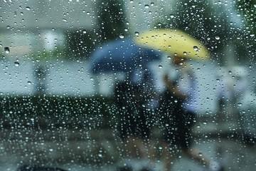 Raining and umbrella
