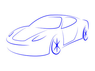 Illustration Modern Represents Sport Car And Automotive