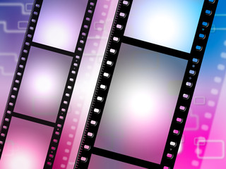 Filmstrip Copyspace Represents Photo Negative And Photographic