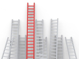 Up Ladders Represents Overcome Obstacles And Blocked