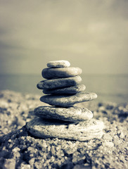 Pebbles tower