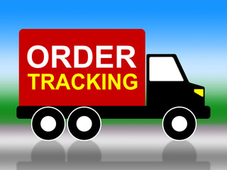 Order Tracking Indicates Logistic Delivery And Moving
