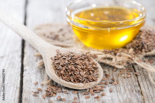 Leinwanddruck Bild Healthy Linseed Oil