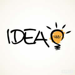 Bright idea with bulb