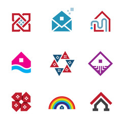Real estate great building house construction abstract logo icon