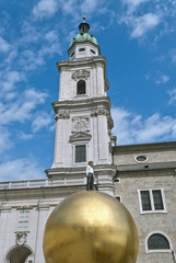 Man on Golden Sphere in Salzburg