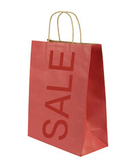 Red shopping bag with SALE text
