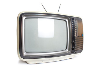 Old tv isolated with clipping path.