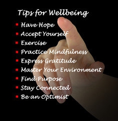 Tips for wellbeing