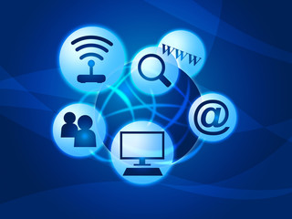 Social Media Indicates World Wide Web And Facebook