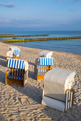 Beach chairs at the Baltic Sea