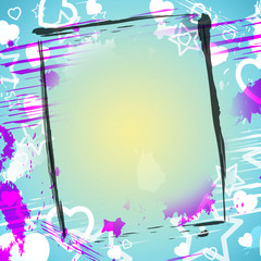 Heart Frame Indicates Valentine's Day And Backdrop