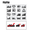 Business icons, management and human resources vector eps 10