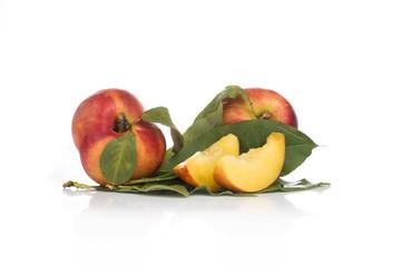 Nectarine friut on white isolated background
