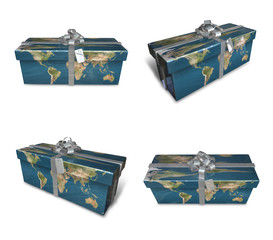 3d decorated map paper lapping gifts array . 3D Icon Design Seri