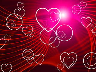 Hearts Twirl Shows Valentine's Day And Blazing
