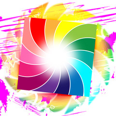 Background Spiral Represents Swirl Colorful And Colors