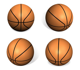 3D Basketball icon. 3D Icon Design Series.