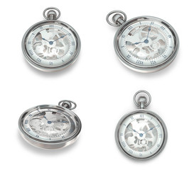 3D winding watches Icon. 3D Icon Design Series.