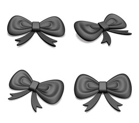 3D Provisions black ribbon icons. 3D Icon Design Series.