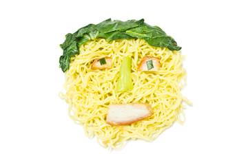 Noodle, face shaped men