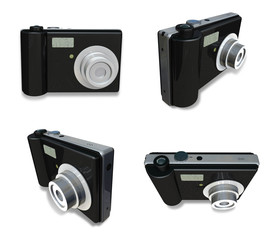 3D Digital camera icon. 3D Icon Design Series.