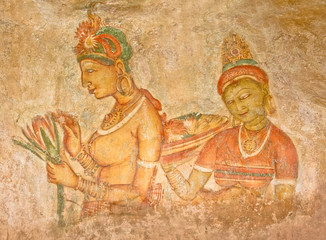 5th Century Sigiriya Rock Paintings