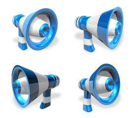 3D Loudspeaker icon. 3D Icon Design Series.