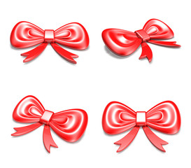 3D Red Ribbon icon. 3D Icon Design Series.