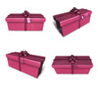 3D purple rectangular gift box set. 3D Icon Design Series.