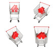 3D Shopping cart and house-shaped symbol icon. 3D Icon Design Se