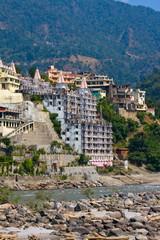 Holy Ganges river that flows through Rishikesh, India.