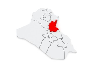 Map of Diyala. Iraq.