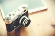 Leinwanddruck Bild - Old vintage camera