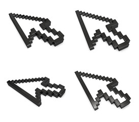 3D mouse cursor icon. 3D Icon Design Series.