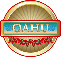Oahu Island Advertising Emblem