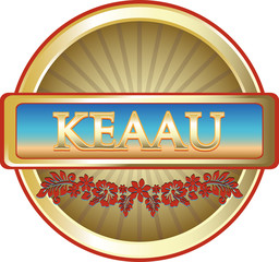 Keaau Hawaiian Advertising Emblem