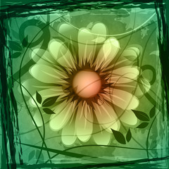 Floral Copyspace Shows Flower Boundary And Frame