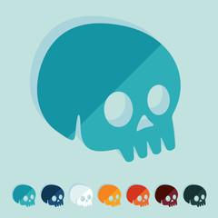 Flat design: skull