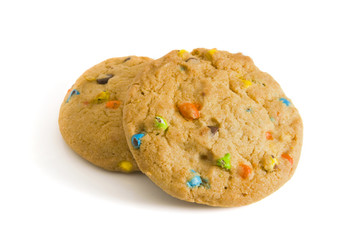 Two Candy Chip Cookies
