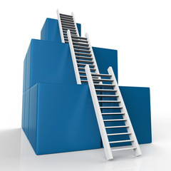 Ladder Growth Represents Increase Development And Steps