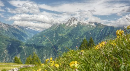 Bergwelt Panorama in HDR
