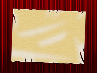 Copyspace Parchment Shows Old Paper And Ancient