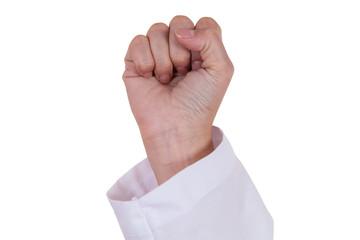 Doctor Biff hand sign