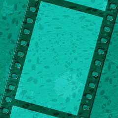 Green Filmstrip Means Text Space And Background