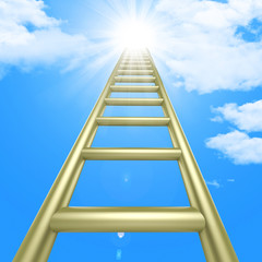 Up Ladders Indicates Raise Improvement And Improve