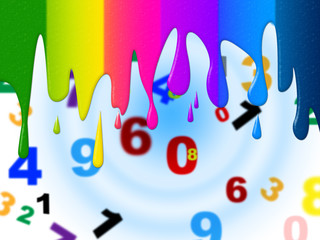 Color Numbers Means Blank Space And Colorful