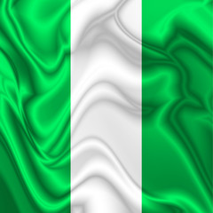 Nigeria Waving Silk Flag